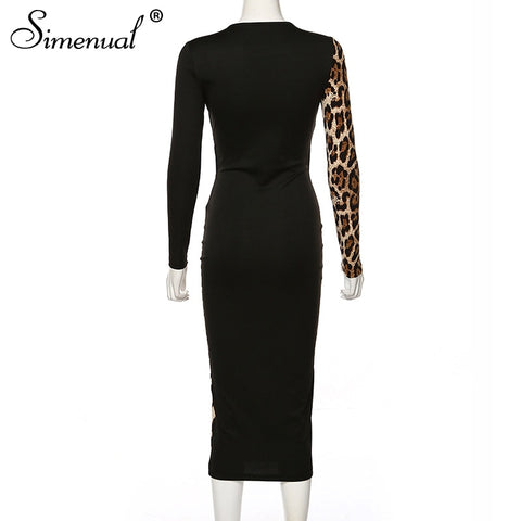 Sexy Hot Skinny Long Sleeve Clubwear Party Bodycon Midi Dress