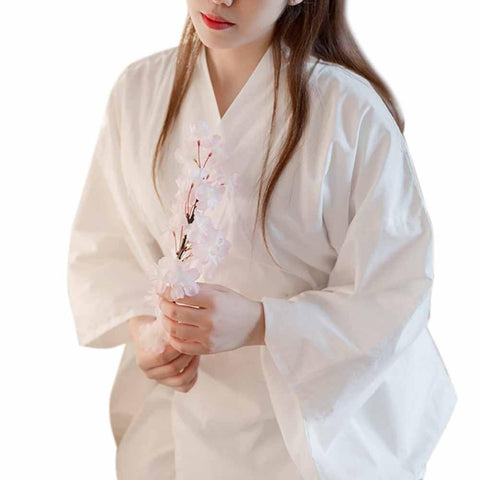 Traditional Kimono Inner Yukata Nagajuban Underwear Cotton Long White