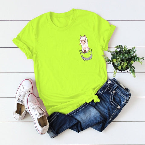 Cotton Short Sleeve Female Casual Tops Tee Funny T Shirts
