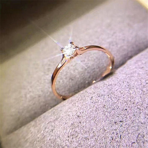 Simple Forever Classic Ring Four Claws Mini Jewelry
