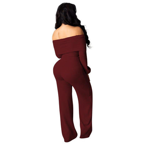 sexy skinny bodysuit polyester solid casual long jumpsuits playsuits