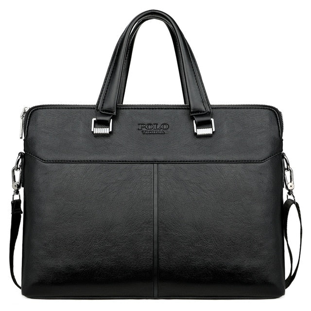 Classic Black Business Leisure Leather Briefcase Cross Body Shoulder Bags