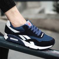 Non-Leather Casual Black Sneakers Cushion Breathable Shoes