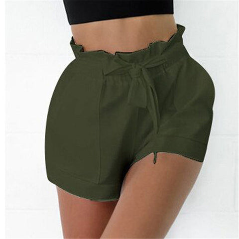 Casual Solid Color Beach High Waist Mini Short