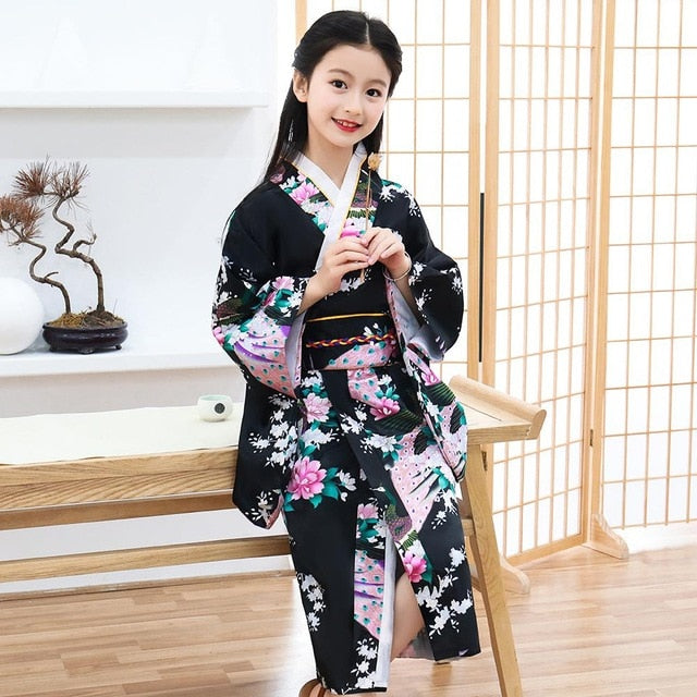 kimono Red Feeling Clothes With Obi Halloween Cosplay Costume Classic