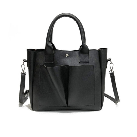 Pu Leather Bag Simple Handbags Famous Brands Shoulder Bag
