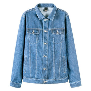 denim Jacket men coat dark Blue Casual Teens Denim Jacket