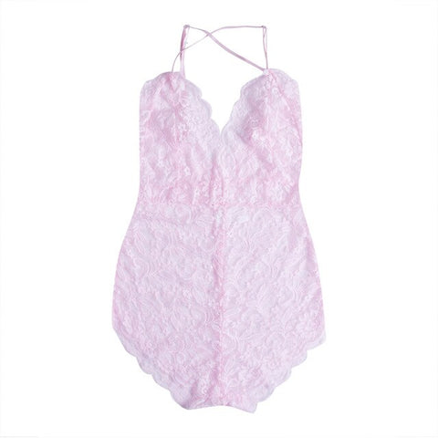 Sexy Plus Size Lace Babydoll Underwear Lingerie Dress