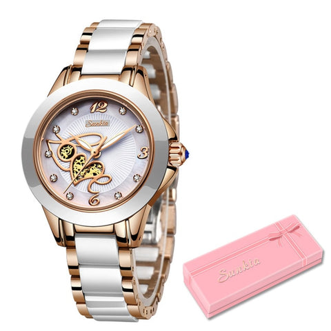 New Rose Gold Quartz Ladies Top Brand Luxury Female Wrist Watch