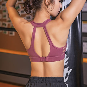 Side Cross Running Shock-proof lady Bra Gathers and Shapes Fitness