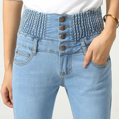 High Waist Push Up Jean Femme Jeans Stretch Denim