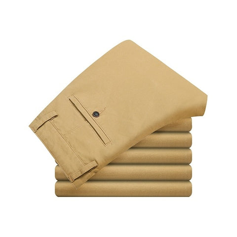 Cotton Casual  Stretch trousers long Straight High Quality pant