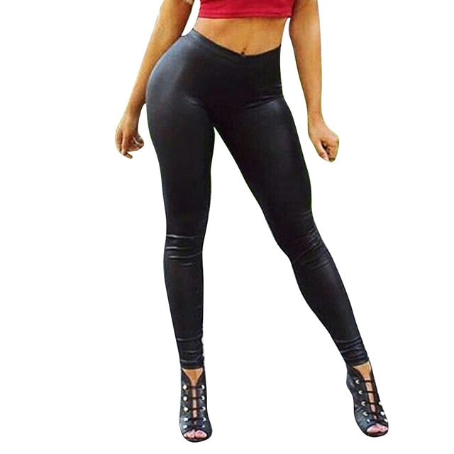 Leggings Bottom Coloured Hip-up Elastic Slim Exercise Nine-minute Sweatpants