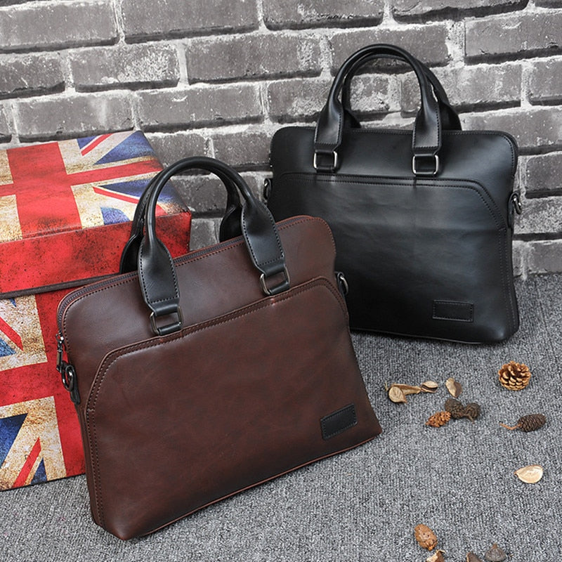 Business office Briefcase Brand Leather Tote Computer Laptop bag