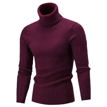 High Quality Warm Turtleneck Sweater Solid Knitted Sweaters