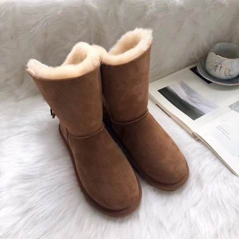 leather boots real sheepskin and wool in one boots