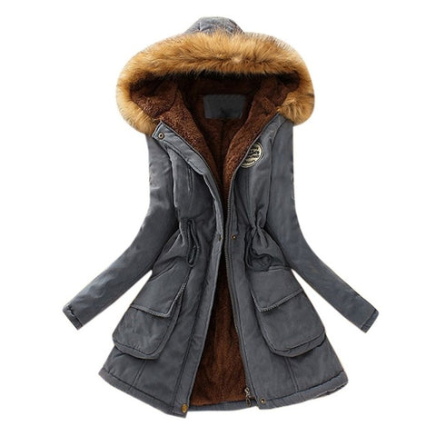 Warm Hoody Fur Jackets Coats Plush Solid Parkas Overcoats
