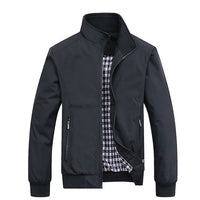 Jackets Coat Solid Color Stand Collar Zipper Slim Jacket