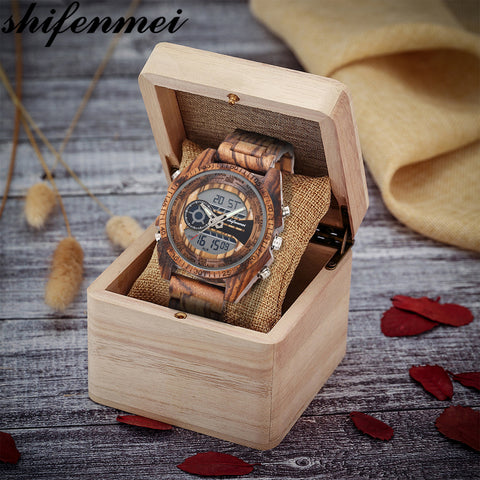 Brand Luxury Chronograph Sport Male Wood Watches