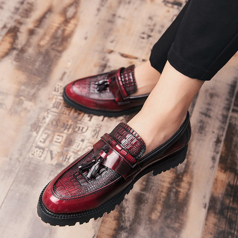 Casual Leather  Loafers Moccasins Tassel Oxfords Shoes