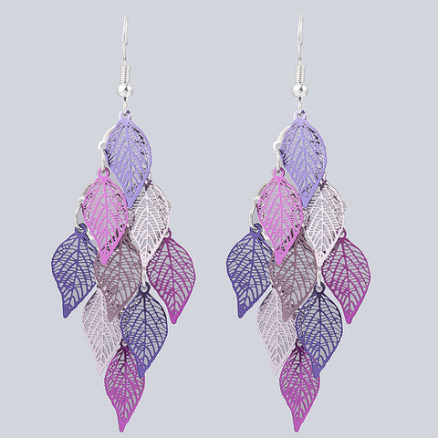 Bohemian Leaf Accessories Colorful Leaves Earring Jewelry Dangle Drop
