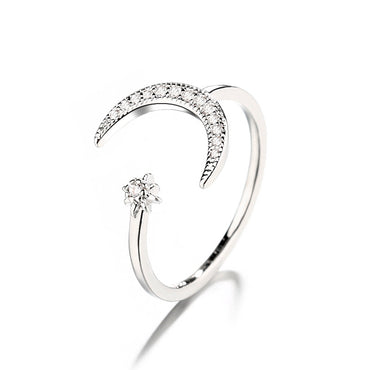 Sterling Silver Fashion Engagement Ring Jewelry