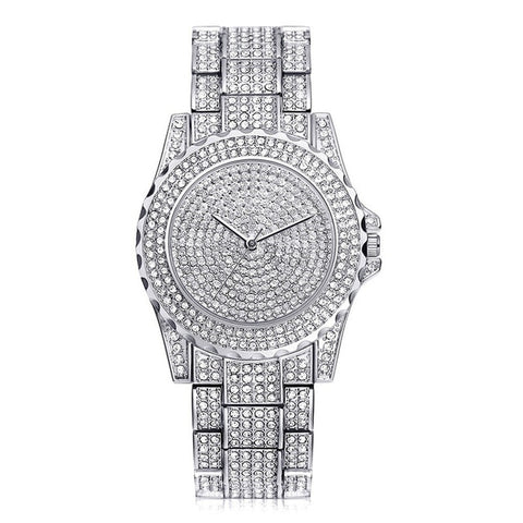 Relogio Feminino Crystal Watche Full Steel Ladies Wristwatch