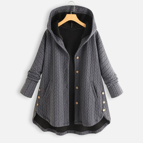 Female Jacket Fashion Coat Tops Hooded Warm Loose Coat