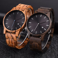 Wood Watch Stylish simplicity Calendar Quartz Sport
