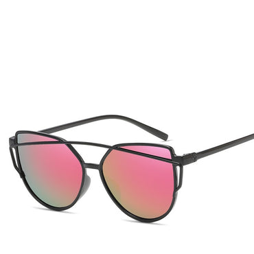 Fashion Brand Cat Eye Twin-Beams Sun glasses