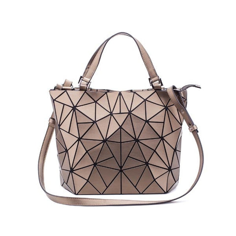 Quilted Shoulder Bags Laser Plain Folding female Handbags