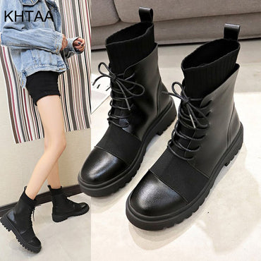 Boots Shoes Fashion Platform Round Ankle Boots