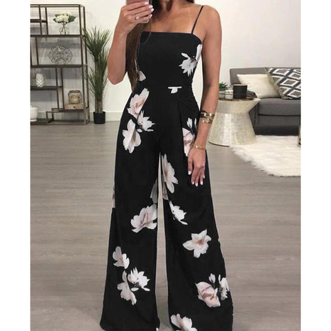 Jumpsuit Large Size Fashion Loose Floral Printed Jumpsuit