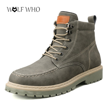 Casual Cotton Male Fashion Work Safety Boots