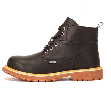 Anti-smashing Genuine leather Work Safety Boots