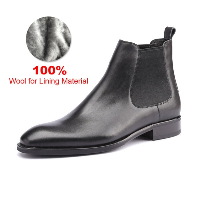 Genuine Leather Handmade Office Formal Boots