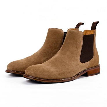 Brown Black khaki Elastic band Ankle Chelsea Boots
