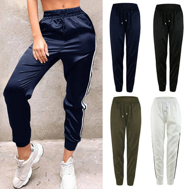 Casual Sport Pants Elastic Waist Loose Drawstring Pencil Joggers