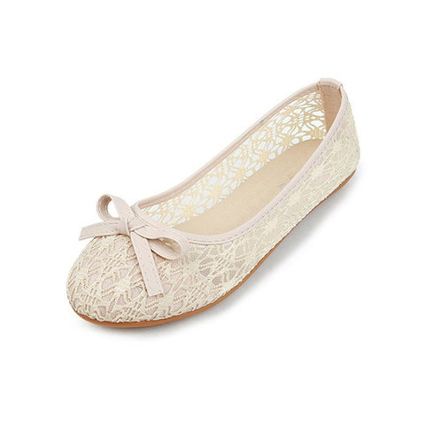 Flats Bow Ballet Flats Shoes Slip On Cut Outs Flat