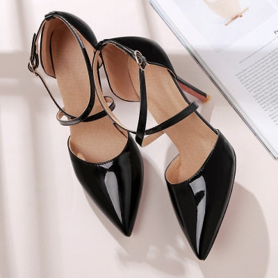Concise Elegant Thin Heels Single Shoes Sexy