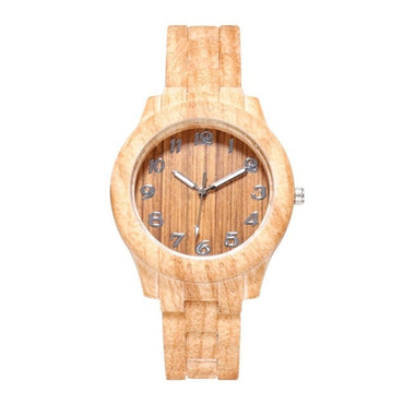 Chic Wood Grain Watch Simple Digital Wood Grain Quartz Watch