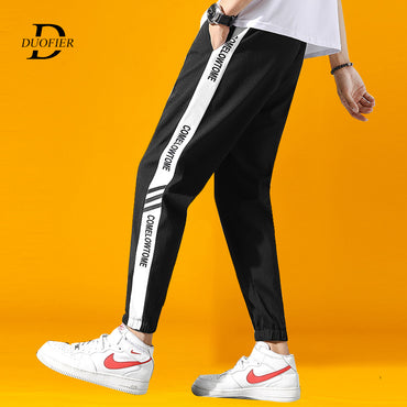 Jogging Pants Hip Hop Streetwear Male Side Stripe Loose Trousers