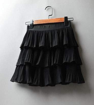 Elasticity Waist Mini Skirt Ladies Chiffon Skirt Ladies
