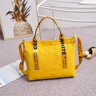 Fashion Brand Large Pocket Letter Print Handbag