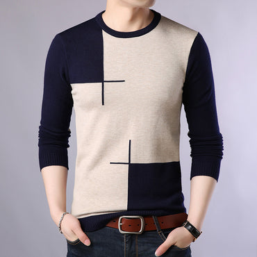 Casual Sweater O-Neck Slim Fit Knittwear Pullovers