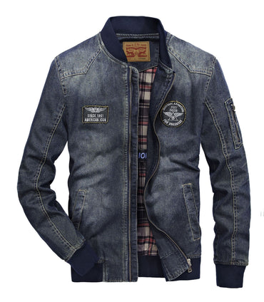 O-neck Denim Jacket Fashion cotton Jean Jackets high-grade