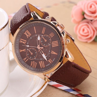 Leather Band Ladies Fashion Bracelet Wrist Watch Wristwatches