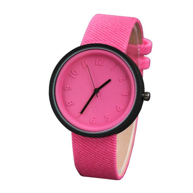 Healthy Kids Girl Watches Unisex Simple Fashion Number Watches