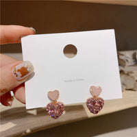 new Arrival Metal Trendy Heart Dangle Earrings