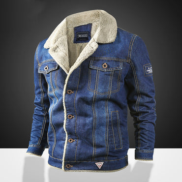 Baseball Jacket Denim Coats Slim Fit Jackets Turn Down